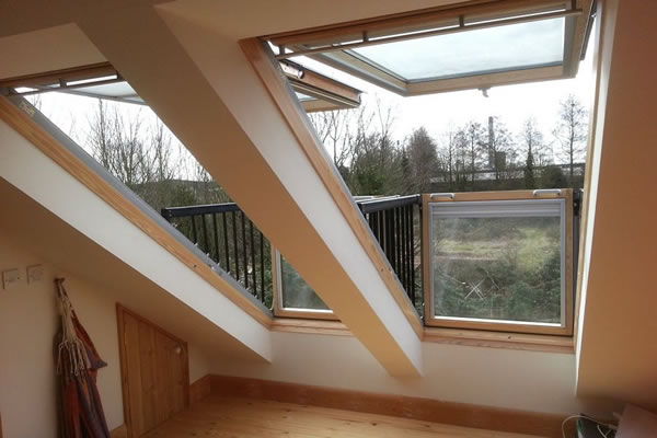 view through velux windows